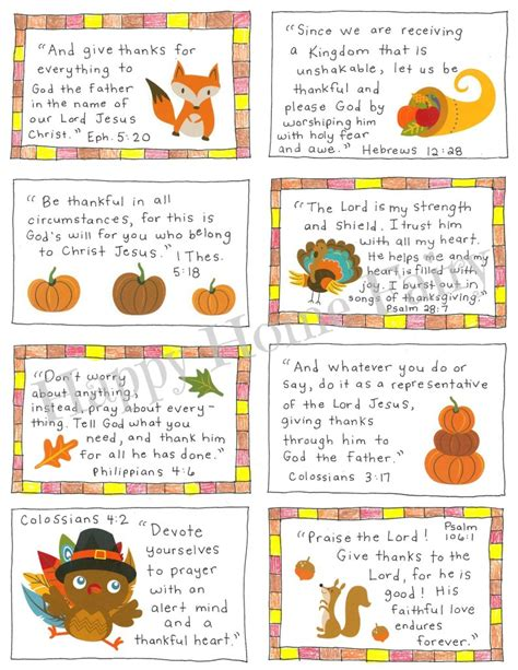 Thanksgiving Scripture Cards - FREE Printable - Happy Home