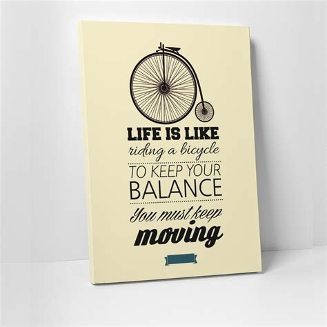 Tablou canvas motivational, Life is Like riding a bicycle