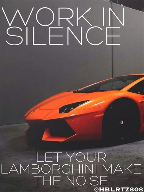 Work in silence,let your Lamborghini make the noise