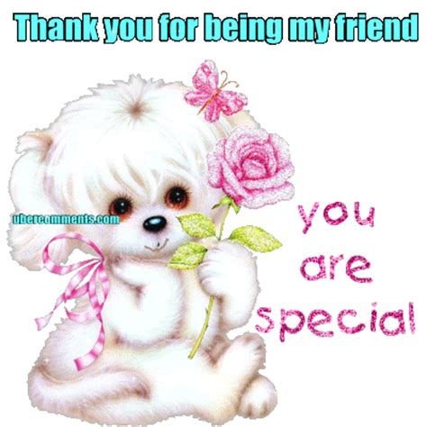 Thank you for being my friend - Friendship graphics for