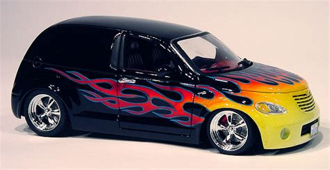 Chrysler PT Cruiser with flames