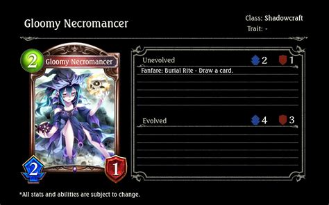 The Timely Chronogenesis Card Reveal Chart : Shadowverse