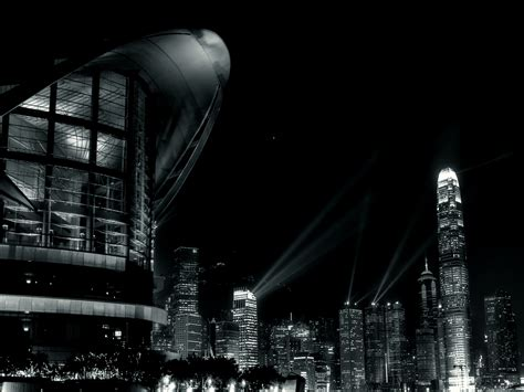 Black and White City Center wallpaper – The Deficit and