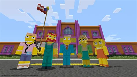 The Simpsons skins come to Minecraft on PlayStation this