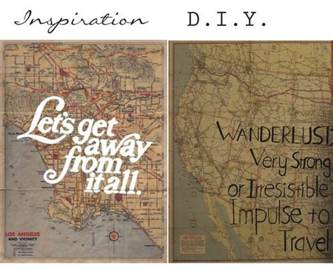 Here's a cool idea, find an old map and write a clever