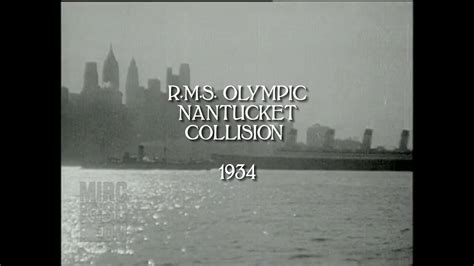 RMS Olympic Nantucket Collision 1934 (HD/audio) - YouTube