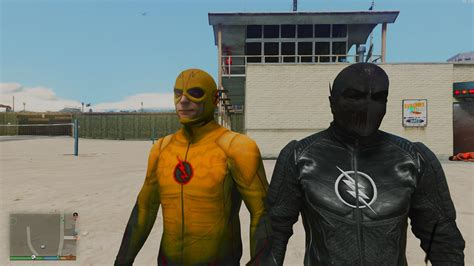 CW Flash and Reverse Flash + Zoom (Ported head) - GTA5
