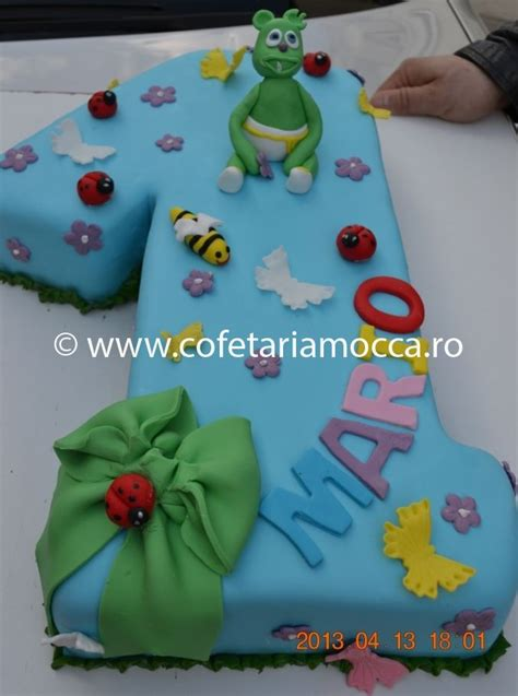 Tort aniversar cifra 1 – COD 121 A - Cofetăria Sweet Mocca
